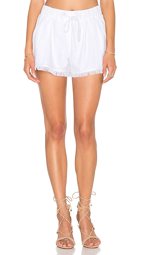 KENDALL + KYLIE Fray Hem Short in White