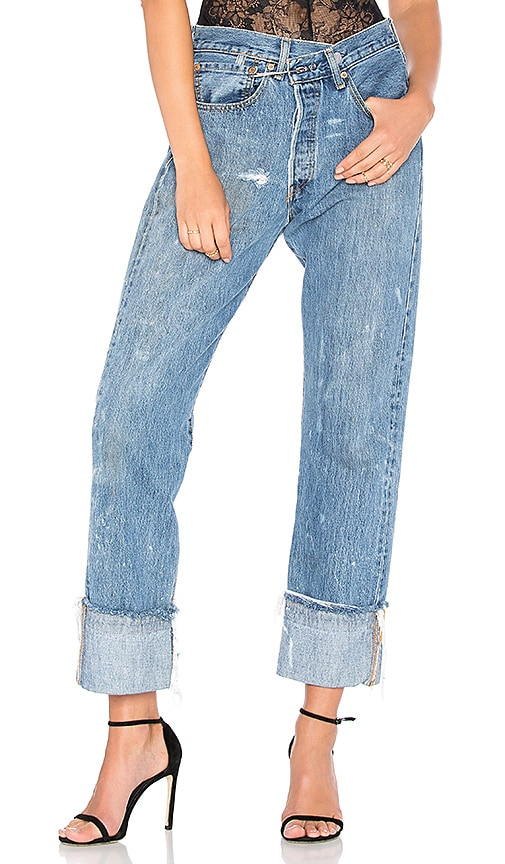 KENDALL + KYLIE Vintage Safety Pin Jean in Medium Wash