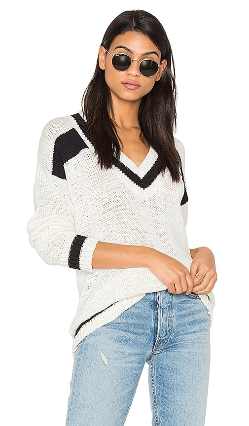 KENDALL + KYLIE Rugby Sweater in White