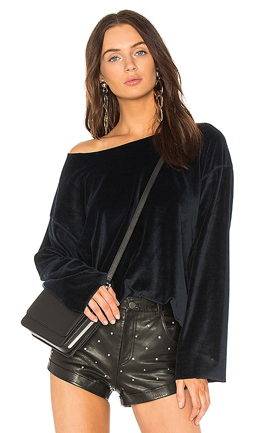 KENDALL + KYLIE Off Shoulder Pullover in Navy
