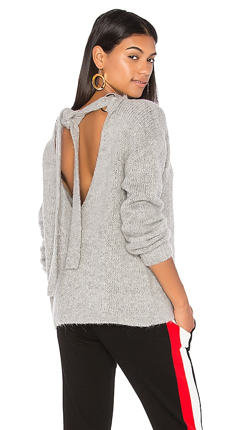KENDALL + KYLIE Tie Back Pullover in Gray