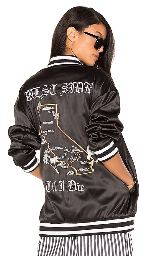 Cali Embroidered Bomber Jacket