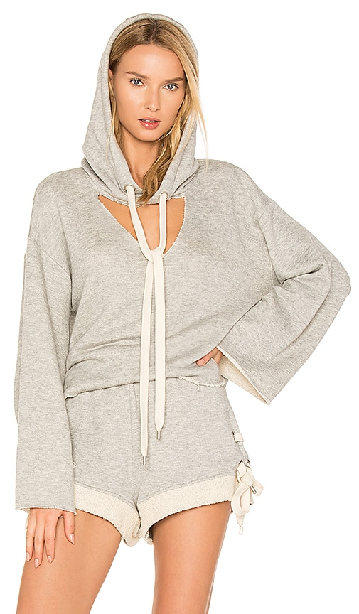 KENDALL + KYLIE Hooded Sweatshirt in Gray