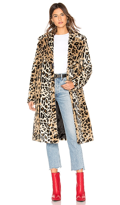 0bf987694ac6 KENDALL + KYLIE Faux Fur Long Coat in Leopard | REVOLVE