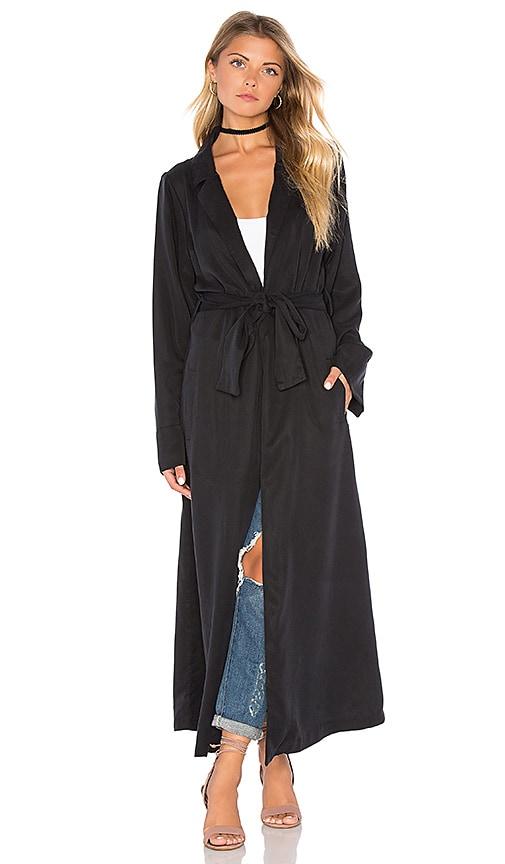 KENDALL + KYLIE Duster Coat in Black