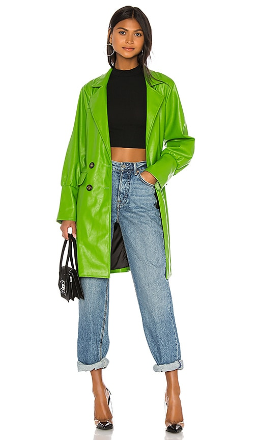 Farrah Vegan Leather Trench Coat