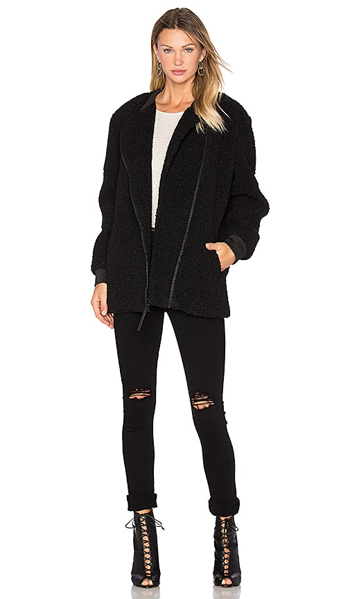 KENDALL + KYLIE Boucle Fall Coat in Black