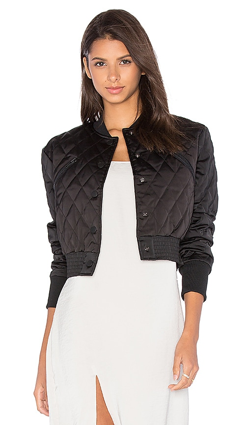 KENDALL + KYLIE Quilted Satin Bomber