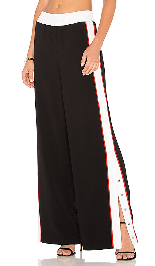 KENDALL + KYLIE Snap Track Pant in Black