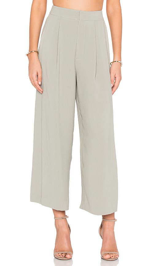 KENDALL + KYLIE Wide Leg Pant in Green
