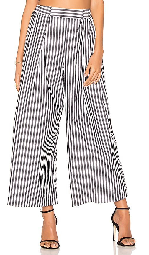 KENDALL + KYLIE Shirting Pant in Black & White