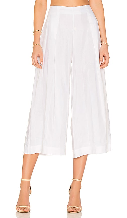 KENDALL + KYLIE Shadow Stripe Pant in White
