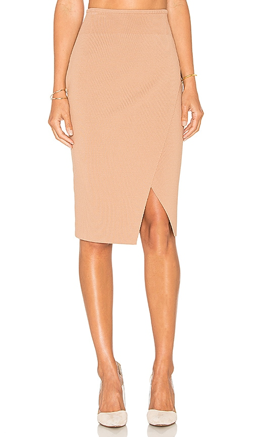 KENDALL + KYLIE Compact Overlap Pencil Skirt in Macaroon  8f3c03e83