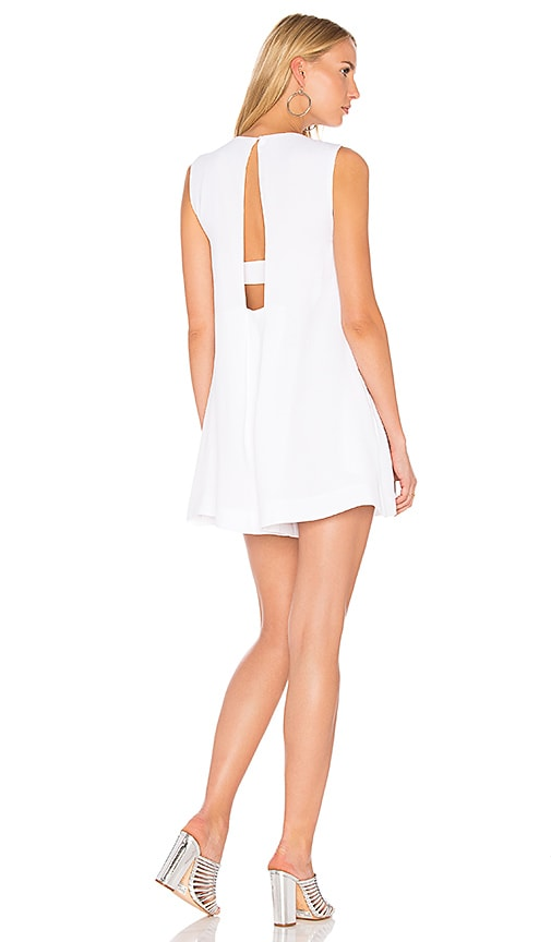 KENDALL + KYLIE A Line Back Romper in White