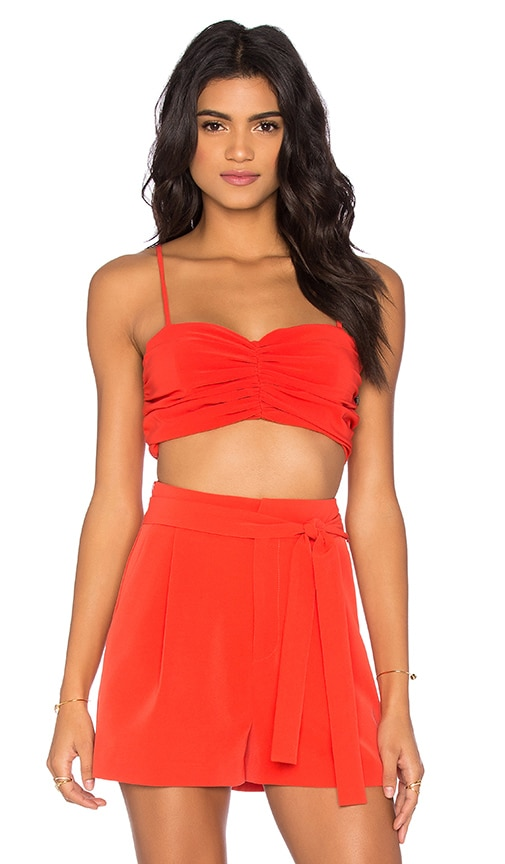 KENDALL + KYLIE Rouched Bustier in Red