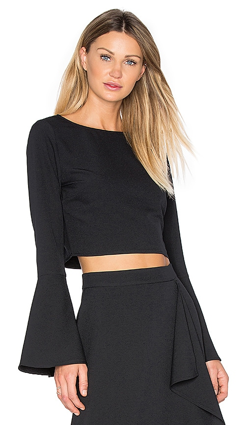 KENDALL + KYLIE Bell Sleeve Top in Black