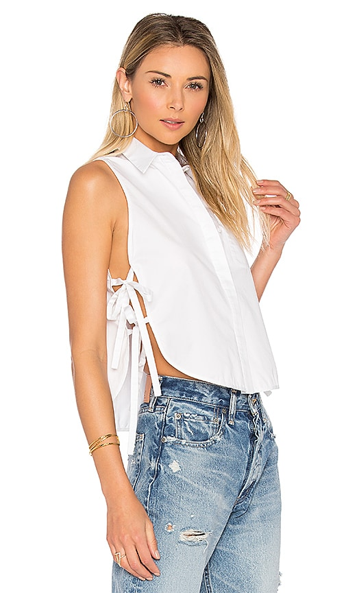 KENDALL + KYLIE Crop Shell Top in White