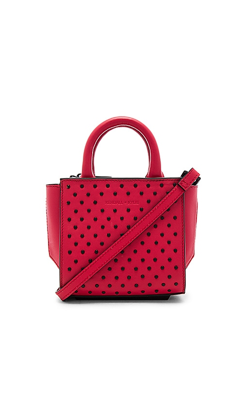 KENDALL + KYLIE Brook Nano Studs Satchel Bag in Red