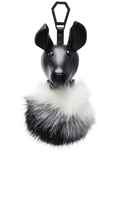 KENDALL + KYLIE Bambi Faux Fur Charm in Black