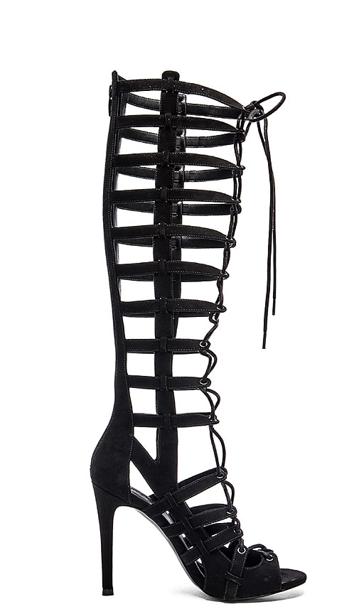 KENDALL + KYLIE Emily Heel in Black Fabric