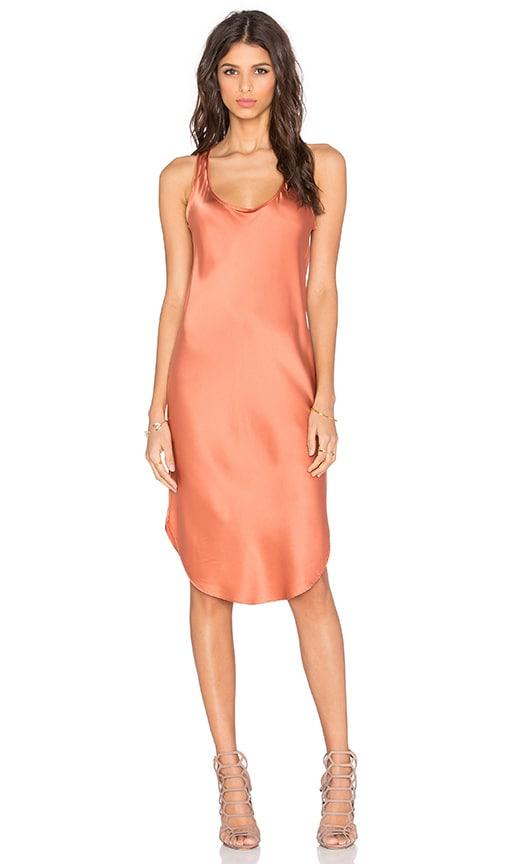 KES Silk Tank Dress in Rust