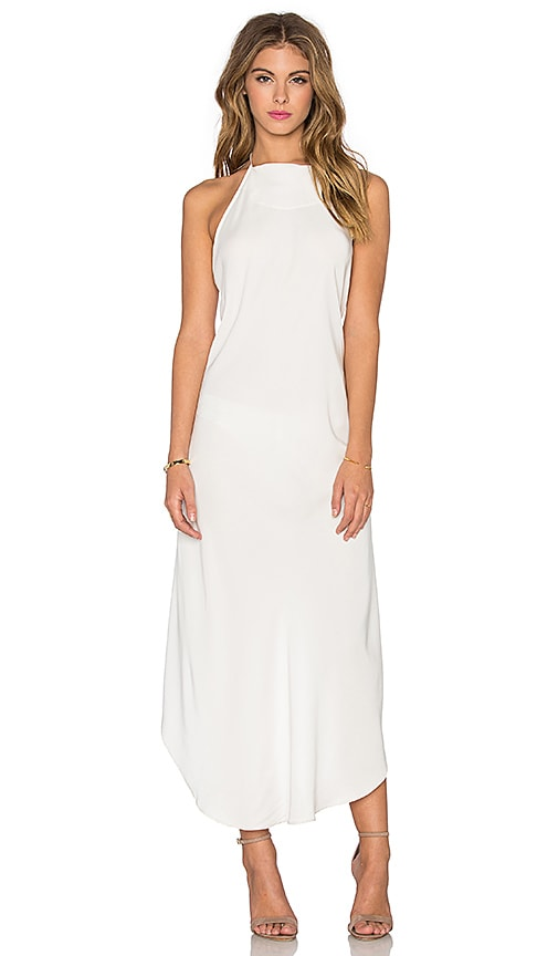 KES Bare Halter Dress in White