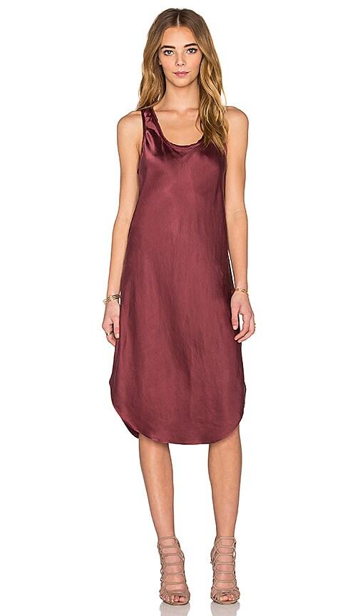 KES Silk Tank Dress in Wine