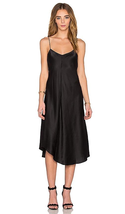 KES Wave Slip Dress in Black