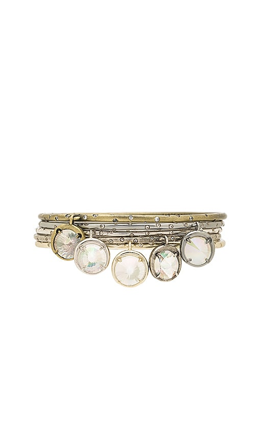 Kendra Scott Brianna Charm Bangle Set in Metallic Silver