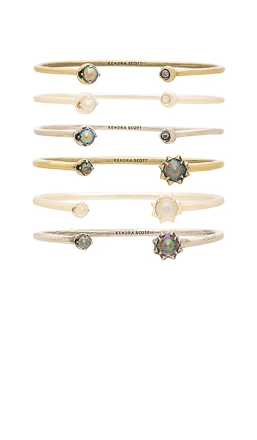 Kendra Scott Kadence Bangle Set in Metallic Gold