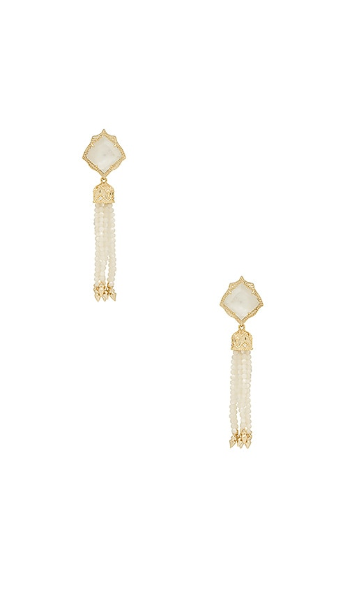 Kendra Scott Misha Earrings in Metallic Gold