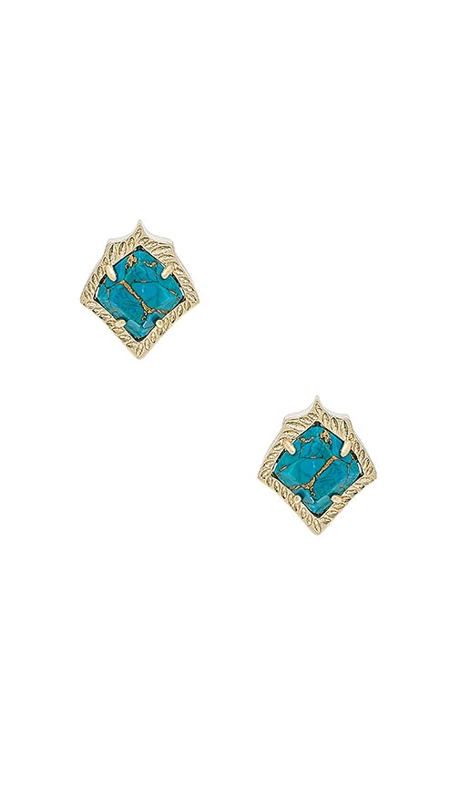 Kendra Scott Kirstie Earrings in Metallic Gold