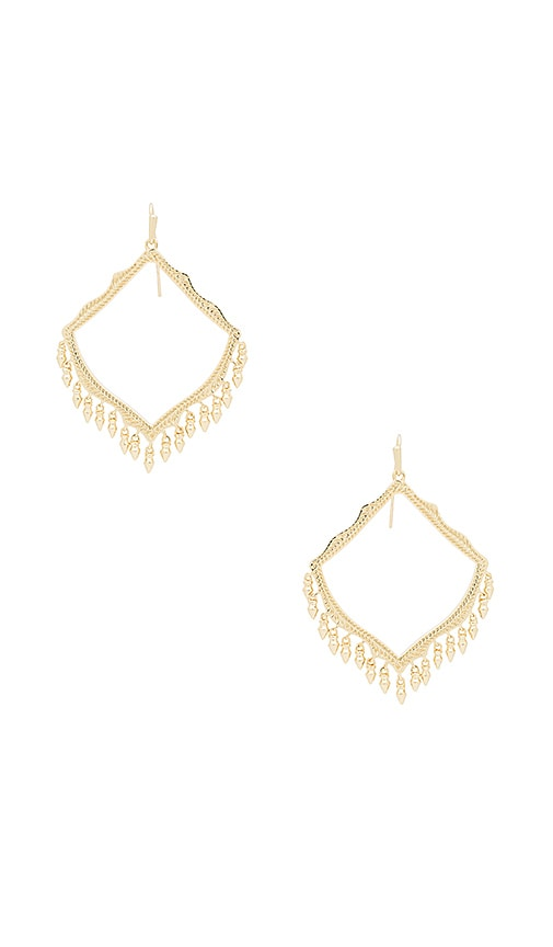 Kendra Scott Lacy Earrings in Metallic Gold