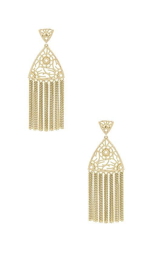 Kendra Scott Ana Statement Earrings in Metallic Gold