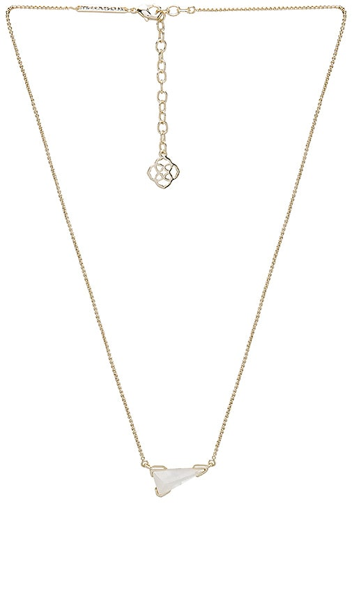 Kendra Scott Racquel Pendant Necklace in Metallic Gold