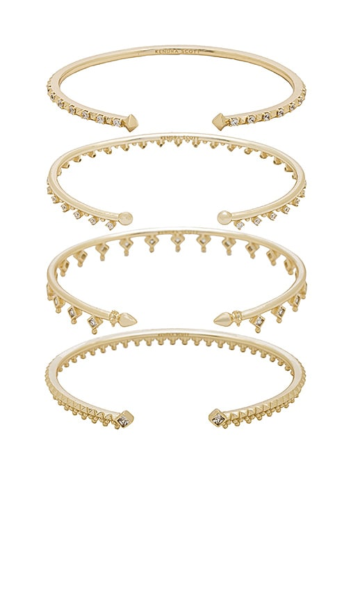 Kendra Scott Delphine Pinch Bracelet Set of 4 in Metallic Gold