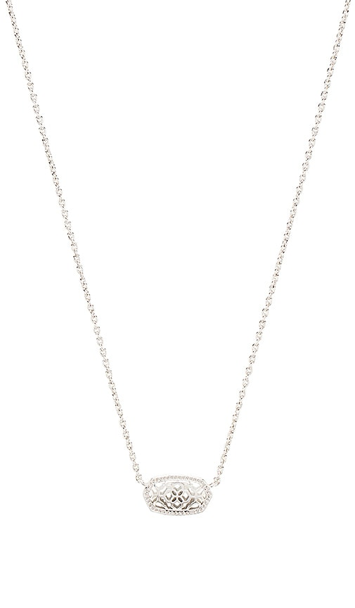Kendra Scott Elisa Brie Necklace in Metallic Silver