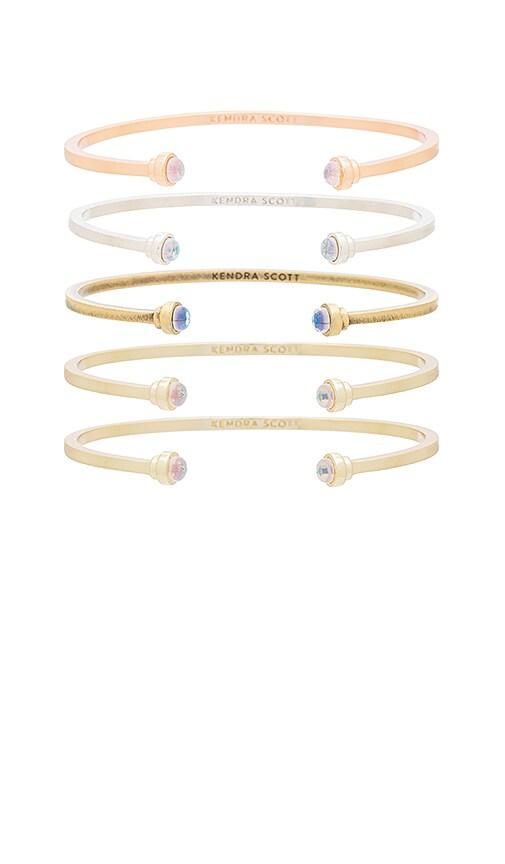 Kendra Scott Kriss Set of 5 Bracelets in Metallic Gold