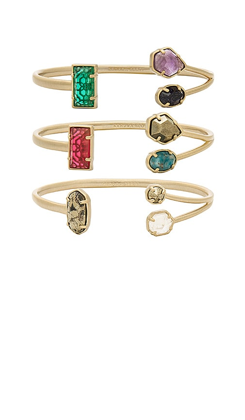 Kendra Scott Cammy Pinch Bracelet Set in Metallic Bronze