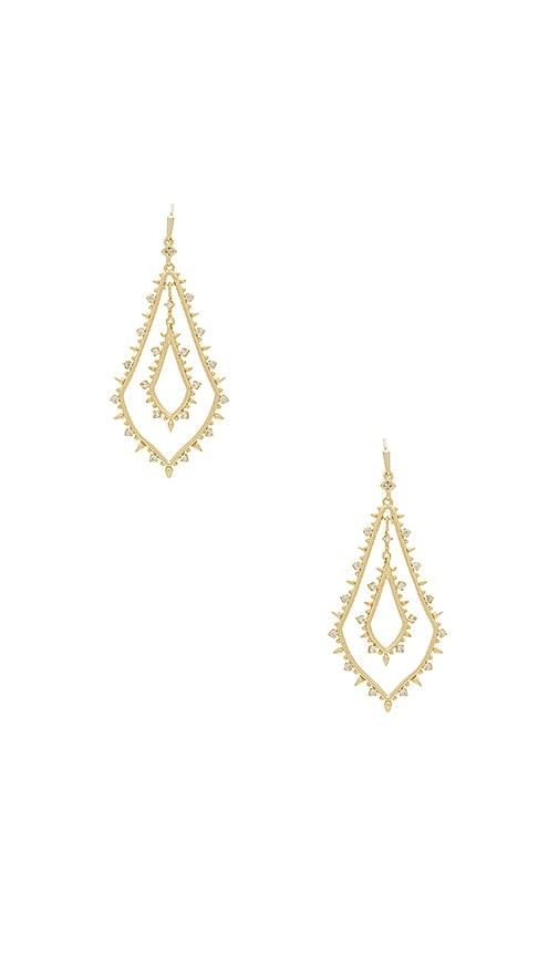 Kendra Scott Alice Drop Earrings in Metallic Gold
