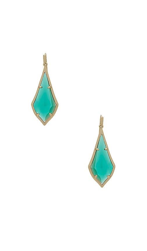Kendra Scott Olivia Drop Earrings in Green