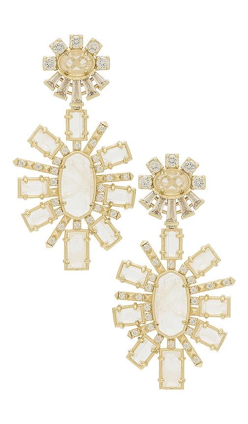 Kendra Scott Glenda Statement Earrings in Metallic Gold