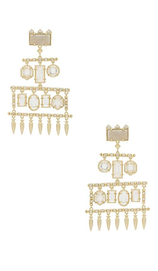 Kendra Scott Emmylou Statement Earrings in Metallic Gold