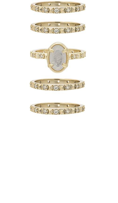 Kendra Scott Reya Ring Set in Metallic Gold