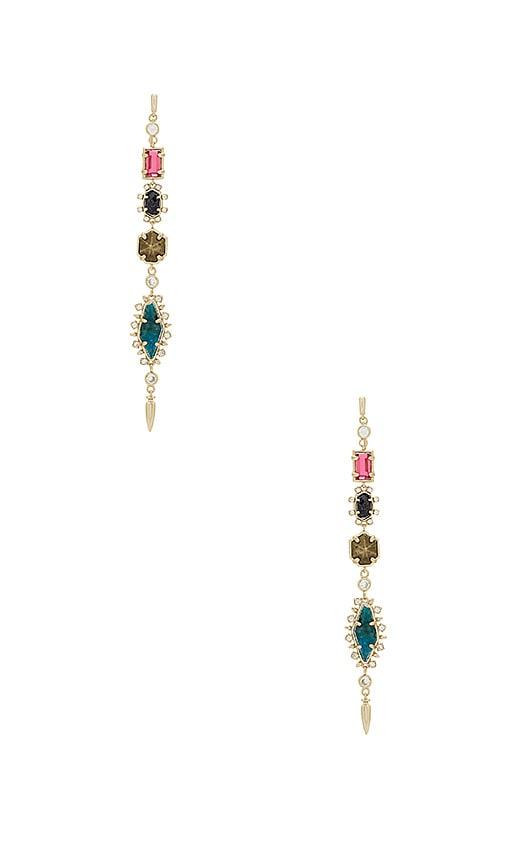 Kendra Scott Leandra Shoulder Duster Earrings in Metallic Gold