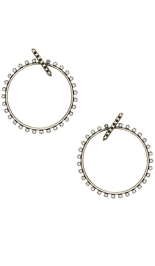 Kendra Scott Charlie Grace Hoop Earrings in Metallic Silver