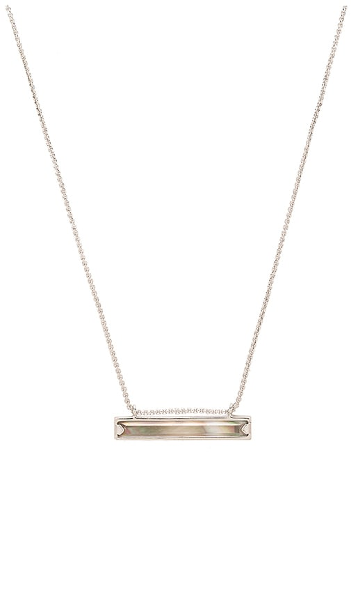 Kendra Scott Eleanor Necklace in Rhodium & Black Mother Of Pearl