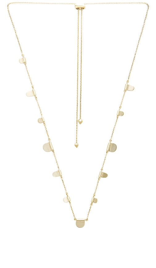 Kendra Scott Olive Necklace in Metallic Gold
