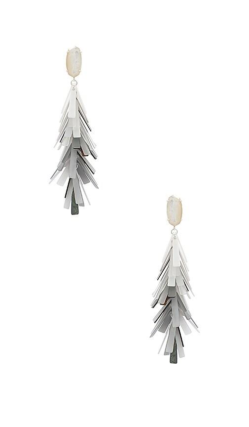 Kendra Scott Justyne Earrings in Metallic Silver