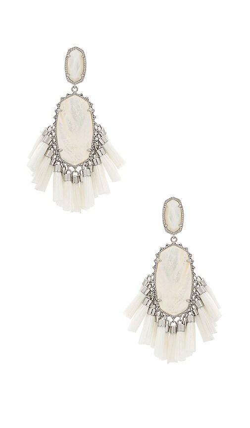 Kendra Scott Cristina Earrings in Metallic Silver